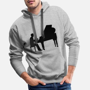 Mozart piano player - Sweat à capuche premium Homme