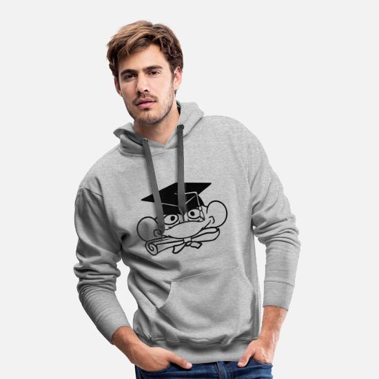 Small Hoodies & Sweatshirts - head face education school graduation school leavi - Men's Premium Hoodie heather grey