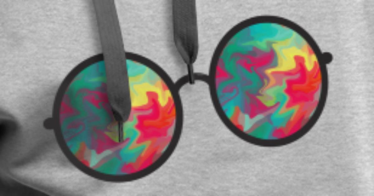 sjove solbriller bunte Sonnenbrille briller Premium hættetrøje mænd | Spreadshirt