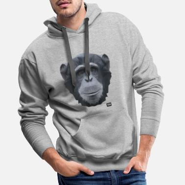 Chimpansee Chimpansee of Triangles - Mannen premium hoodie