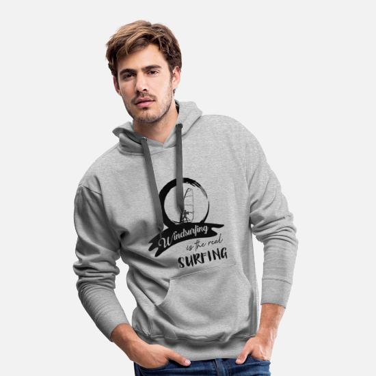 Windsurfing Hoodies & Sweatshirts - Windsurfers windsurf windsurfing windsurfing surfing - Men's Premium Hoodie heather grey