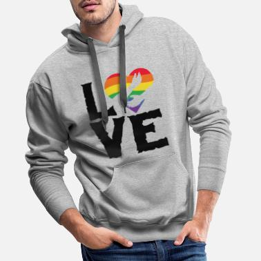 Community Love lgbt rainbow heart - Men's Premium Hoodie