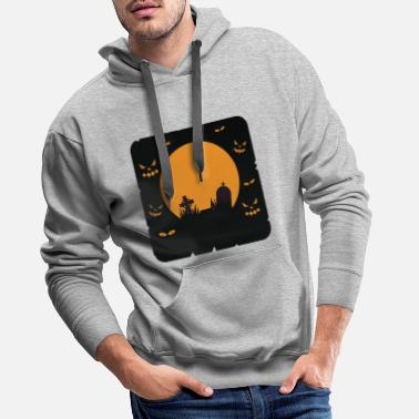 Monster Halloween Motive Tee Shirt 97 - Men's Premium Hoodie