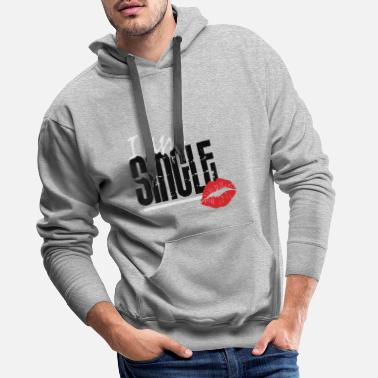 Kussmund Kussmund i at the single - Men's Premium Hoodie