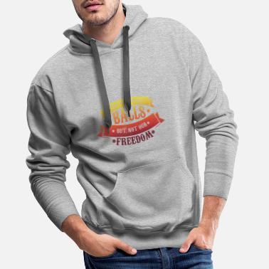 Floor Hockey Take my ball, but not freedom floorball Unihockey - Men's Premium Hoodie