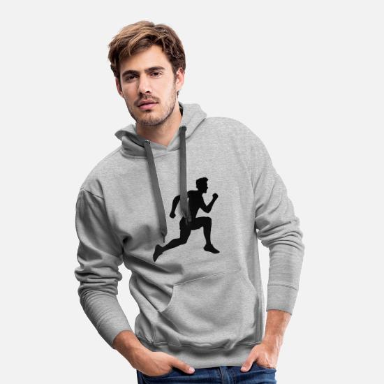 Cool Hoodies & Sweatshirts - sport race sprinting fast endurance training joggi - Men's Premium Hoodie heather grey