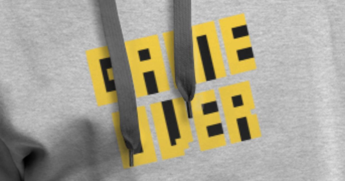 Game over zocken Level Gamer Männer Premium Hoodie | Spreadshirt