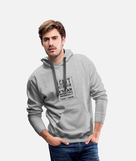 Operating Department Practice Hoodies & Sweatshirts - Keep calm - Men's Premium Hoodie heather grey