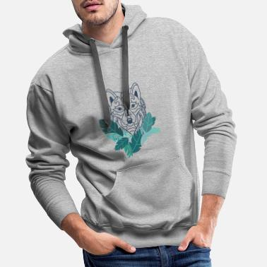 Description wolf - Men's Premium Hoodie
