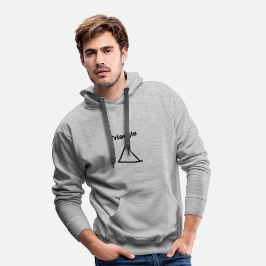 Friedrichshain Hoodies & Sweatshirts - Triangle funny design gift present idea - Men's Premium Hoodie heather grey