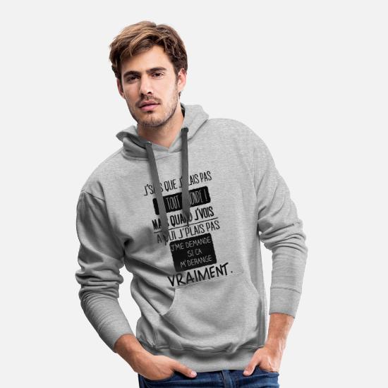 Humour Sweat-shirts - Philosophie - Sweat à capuche premium Homme gris chiné