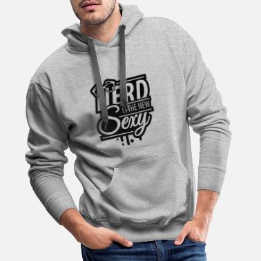 I Love nerd_is_the_new_sexy_1_f1 - Mannen premium hoodie
