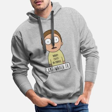 Dan Harmon Rick And Morty Come Watch TV Quote - Men's Premium Hoodie