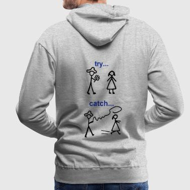 Java Try Catch Code - Sweat-shirt à capuche Premium pour hommes