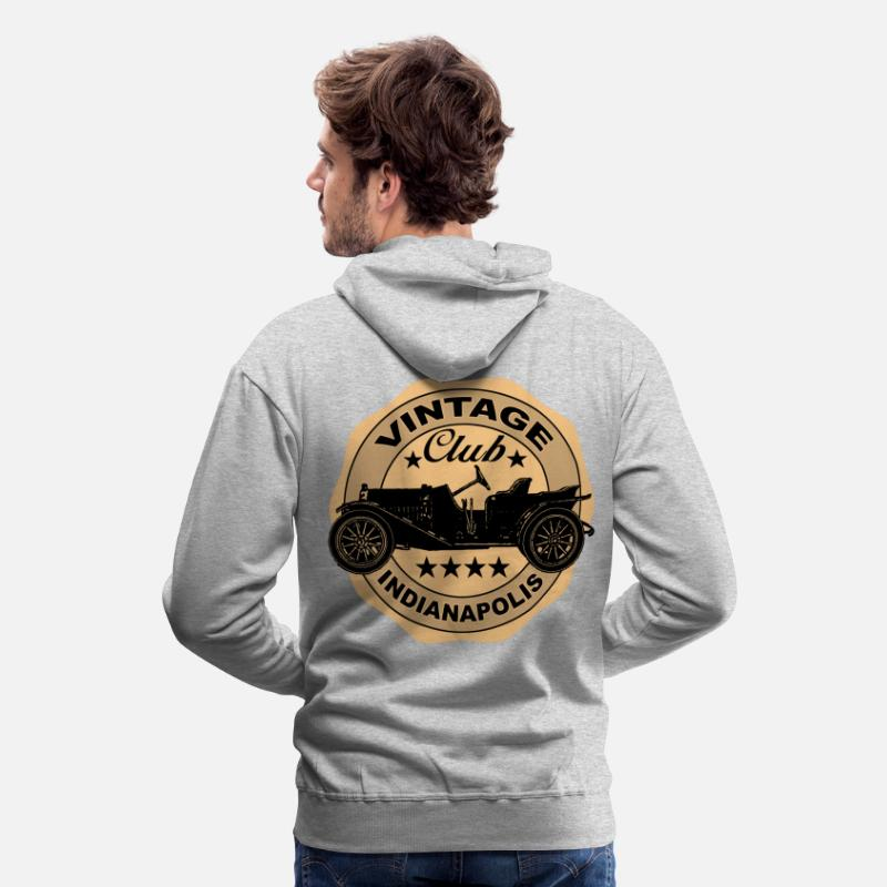 Voiture Sweat-shirts - vintage car 03 - Sweat à capuche premium Homme gris chiné
