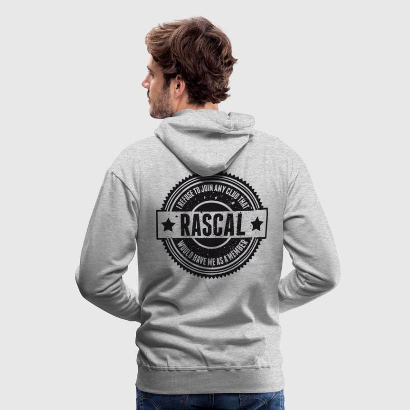 Vintage RASCAL quotes - Not in that club - Felpa con cappuccio premium da uomo