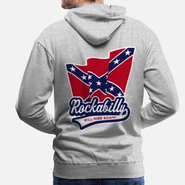 Rockabilly Rockabilly will rise again! - Men's Premium Hoodie