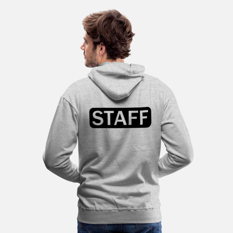 Staff Sweat-shirts - STAFF (1c) - Sweat à capuche premium Homme gris chiné