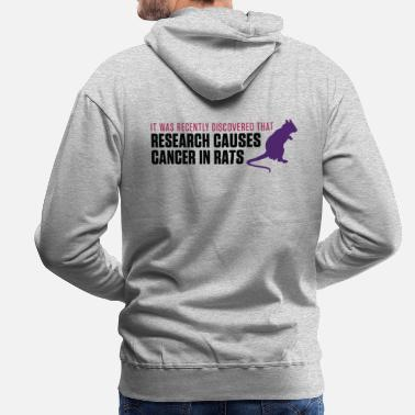 Animal Testing Research increases the risk of cancer in rats - Men's Premium Hoodie