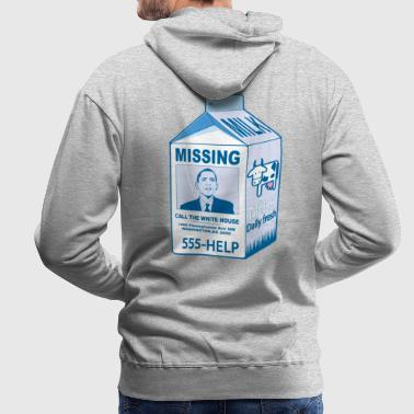 Missing Obama - Sweat-shirt à capuche Premium pour hommes