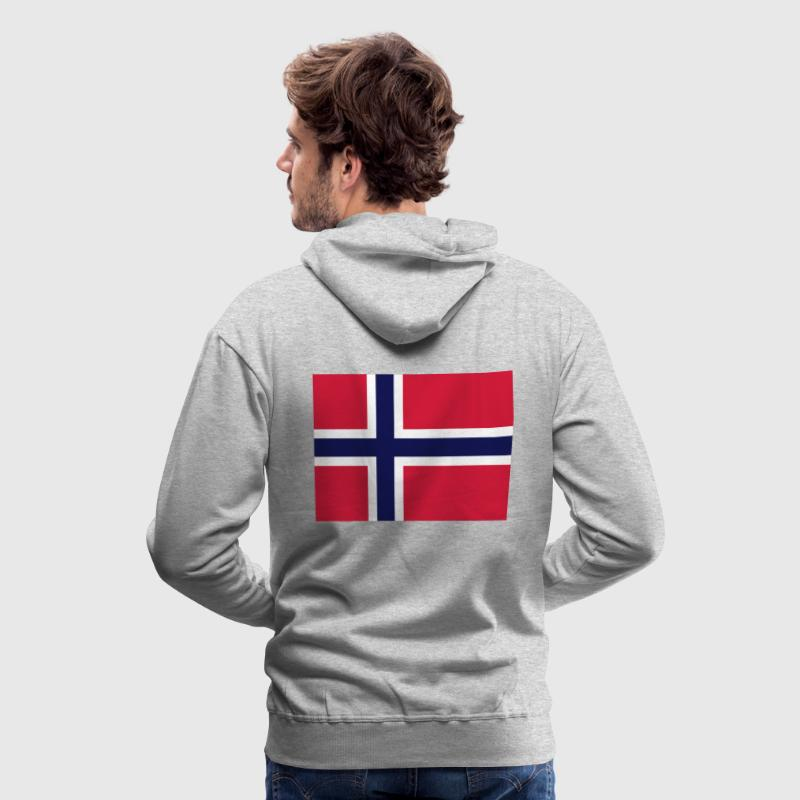 National Flag of Norge - Premium hettegenser for menn