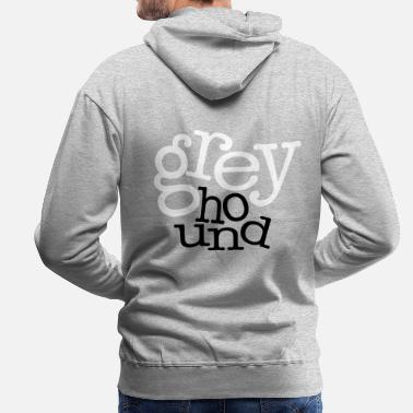 Greyhound GrEyHoUnD - Sweat-shirt à capuche Premium pour hommes