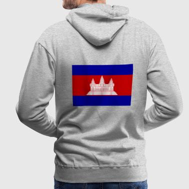 Drapeau national du Cambodge - Sweat-shirt à capuche Premium pour hommes