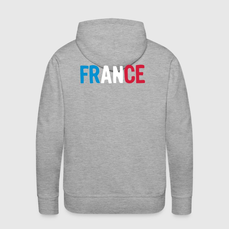 logo france foot equipe supporter drapea - Sweat-shirt à capuche Premium pour hommes