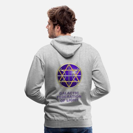 Federation Hoodies & Sweatshirts - Ummac Dan - Galactic Federation Symbol For The Sirian Star System, digital - Men's Premium Hoodie heather grey