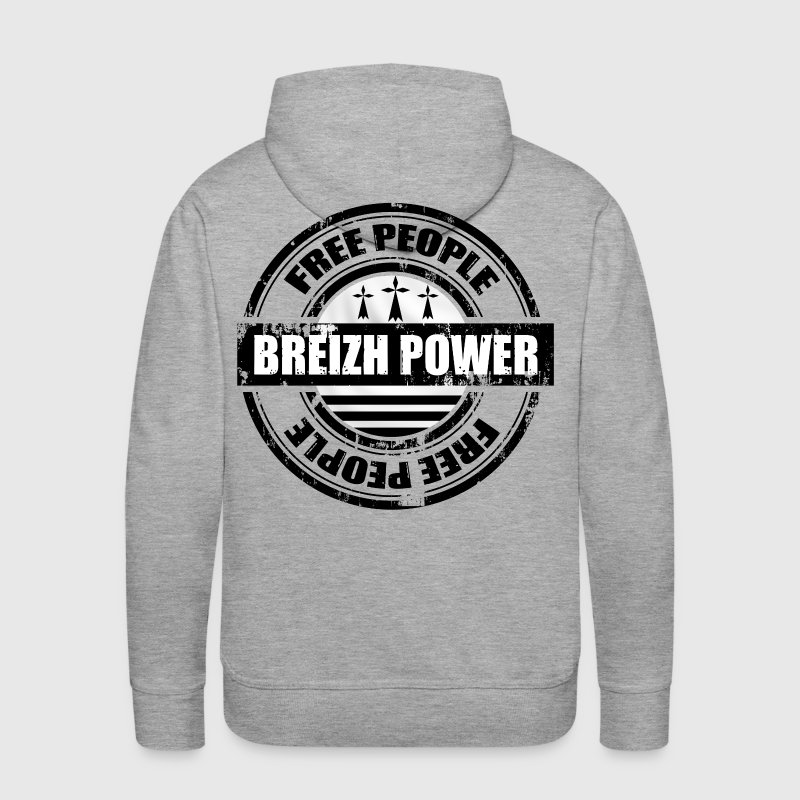 breizh power 1 - Sweat-shirt à capuche Premium pour hommes