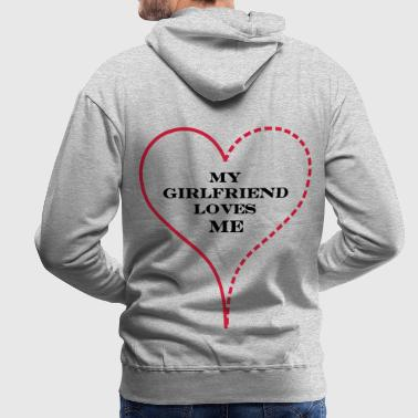 My Girlfriend Loves Me - Premium hettegenser for menn