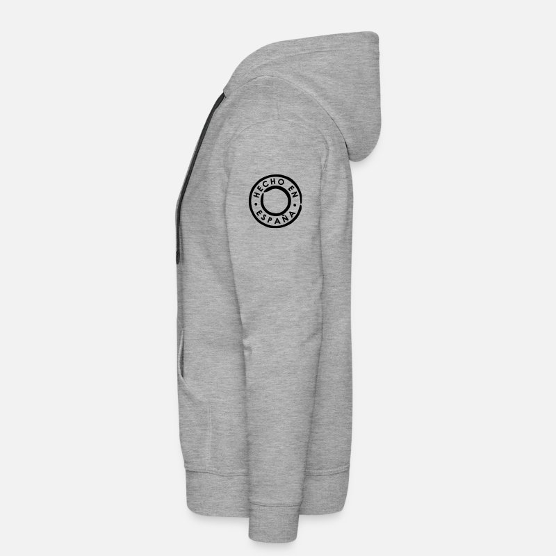 Hecho Hoodies & Sweatshirts - Hecho en España - Made in Spain - Men's Premium Hoodie heather grey