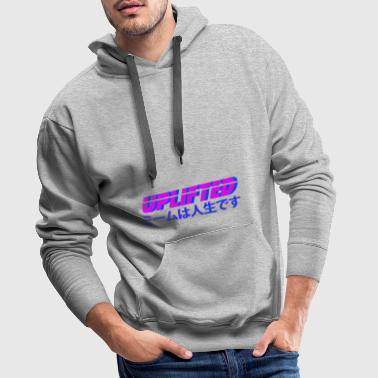 Uplifted with japanese lettering - Men's Premium Hoodie