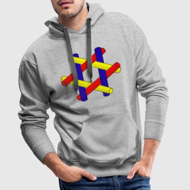 Optical Illusion Pipes Design - Men's Premium Hoodie