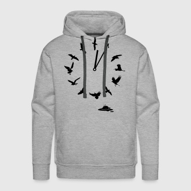 Doomsday Bird Clock save mother earth t-shirts - Men's Premium Hoodie