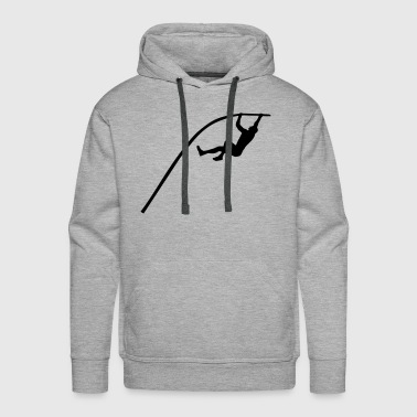 Pole vaulting - man - Men's Premium Hoodie