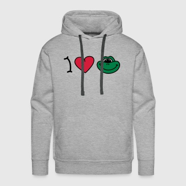 I love frogs - Sweat-shirt à capuche Premium pour hommes