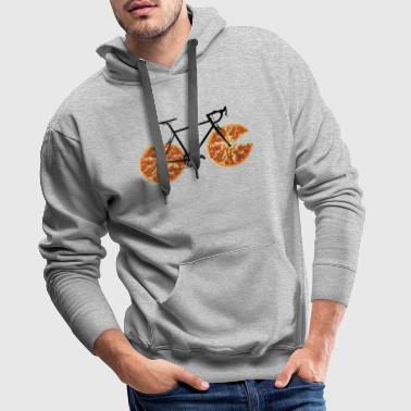 Pizza Bike - Sweat-shirt à capuche Premium pour hommes