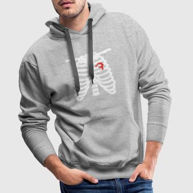 Heart skeleton heart love yoga meditation gymnastics png - Men's Premium Hoodie