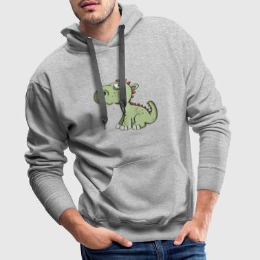Little dragon - dinosaurs - children - Men's Premium Hoodie