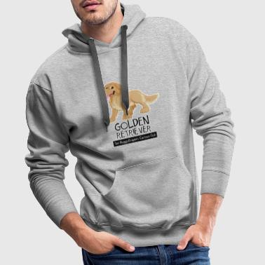 Golden Retriever CartoonClub - Felpa con cappuccio premium da uomo
