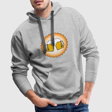 Brewers en action - Sweat-shirt à capuche Premium pour hommes