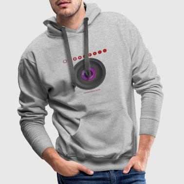 Photo lens lens aperture saying - Men's Premium Hoodie