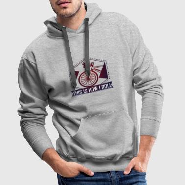 Bicycle. That's how I roll - Men's Premium Hoodie