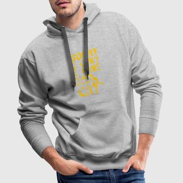 Excuse me, I can not talk to my cat Pl - Men's Premium Hoodie