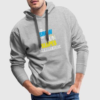 Snow Sun Slopes my happy place t-shirt with snow - Men's Premium Hoodie