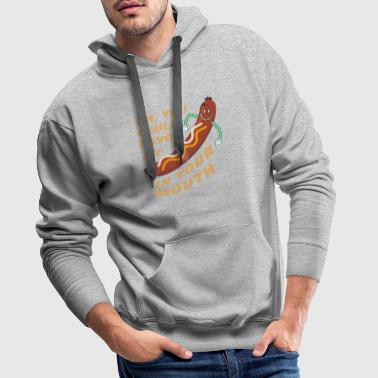 Hot Dog - Mouth - Sausage - Enjoy - Hot Dog - Men's Premium Hoodie