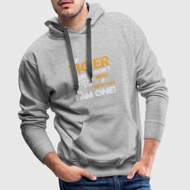 Tiger cat predator gift animal - Men's Premium Hoodie
