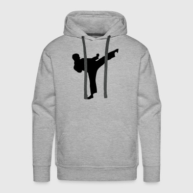 Martial Arts Fighter 1 - Sweat-shirt à capuche Premium pour hommes