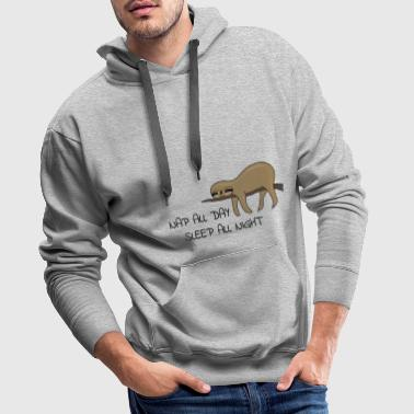 Faultier Napping - Männer Premium Hoodie